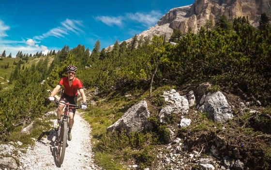 Mit der Familie mountain bike Alta Badia